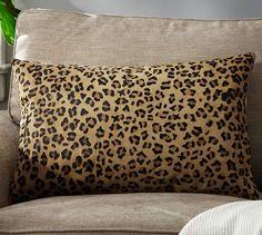Ken Fulk Cheetah-Printed Hide Pillow Cover | Pottery Barn