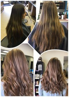 Before and after done by Amber at Chameleon Hair Salon