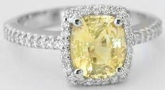 Ohhh myyy...  Natural Yellow Sapphire Ring