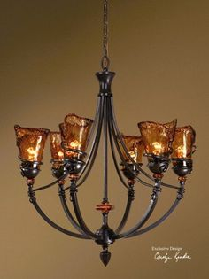 Uttermost 21227 Vitalia 6Light Chandelier Oil Rubbed Bronze Metal -- This is an Amazon Affiliate link. You can get more details by clicking on the image.