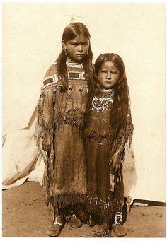 Comanche Chief Quanah Parker's Daughters. 1891. Photo by James Mooney. Colorado