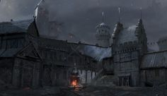 Medieval Buildings And Towns For Concept Art Inspiration Fantasy Town, Medieval Fantasy, Dark Fantasy, Fantasy World, Fantasy Village, Fantasy Map, Concept Art Gallery, Fantasy Concept Art, Vampires