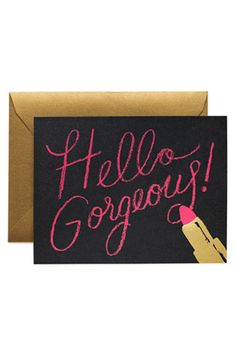 Rifle Paper Co. Hello Gorgeous Card, $4.50, available at Rifle Paper Co.