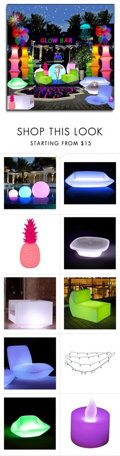 """""""Outdoor Summer Glow Party"""" by craftygeminicreation ❤ liked on Polyvore featuring interior, interiors, interior design, home, home decor, interior decorating, Vondom, Goodnight Light, Smart & Green and Smart Solar"""