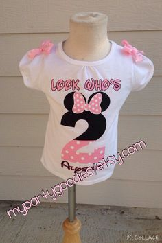 Light Pink Minnie Mouse Shirt By Mypartygoodies