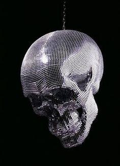 Mirror ball skull