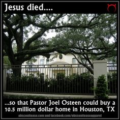 """i wonder how many families could have been fed or workers could have been paid or unplanned babies could have been adopted with that money. """"follower of christ"""" my ass."""
