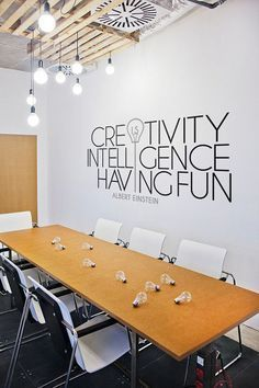 """Let your walls MOTIVATE you! Of course, not only your walls! Decal comes in various size, also can be made a custom size and custom color, to fit the any space. Decal can be applied anywhere you want - on walls, glass, wood, laptop, tablet, car, etc. Just go ahead and be creative!  QUOTE: Creativity is intelligence having fun  WHAT'S INCLUDED: - Application tool - Decal - """"Creativity is intelligence having fun - Application instruction DEFAULT COLOURS: A Colour - BLACK B Colour - MIDDLE GREY..."""
