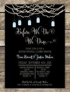 5x7 Customized Wedding Rehearsal Dinner Invitation Digital File