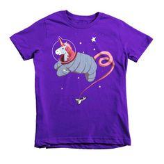 Space Unicorn Princess Astronaut Short sleeve kids t-shirt