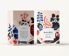 Floral Fruit Box Packaging Design
