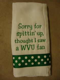Marshall University Burp Cloth by CoughlinCrafts on Etsy, $12.00