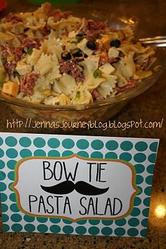 Serve Bow Tie Pasta- Little Mister party