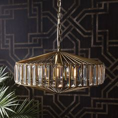 Babylon Ceiling Light - Metal Cage & Crystal – Allissias Attic & Vintage French Style