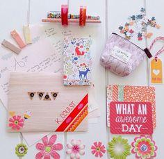 Autumn themed snail mail. Happy Mail. Handmade. Stationery