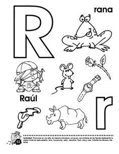 Libro trompito (1) R Words, Kindergarten, Preschool, Teaching, Math, Speech Therapy, Letter R Activities, Geometry Activities, Preschool Alphabet Activities