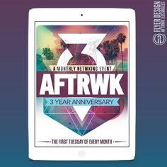 R. One Creative - Congrats to our friends over at Rebel Industries for their 3yr Anniversary of #AFTRWK Networking Event. We were happy to create something special for this!