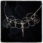 R$300 - colar de anjo em prata, design exclusivo, peça única.