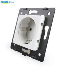 """Universe of goods - Buy """"Livolo Socket DIY Parts, White Plastic Materials, EU standard, Function Key For EU Wall Socket, for only USD. Key Bottle Opener, Plastic Material, Goods And Service Tax, Montenegro, Electrical Equipment, Grenada, Puerto Rico, Barbados, Sierra Leone"""