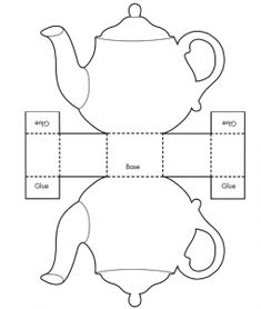 Printable Teacup Template Tea Pot Candy Box Templates - (would be cute for a girl's Beauty and the Beast party) Invitation Templates Design Candy Box Template, Box Template Printable, Gift Box Templates, Free Printables, Printable Paper, Paper Tea Cups, Tea Party Invitations, Shower Invitations, Shower Favors