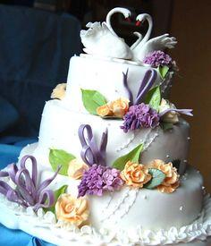 swan wedding cake decoration - Google Search