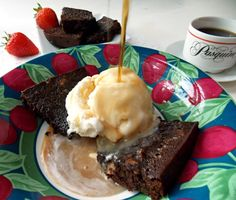 A second picture of Chocolate espresso brownie #recipe from @Cleo Coyle Wow! Mystery Lovers' Kitchen