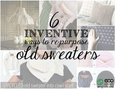 6 Inventive Ways to Repurpose Old Sweaters, a blog post by EcoGoodz, a Mixed Rags supplier in the USA