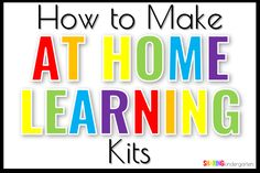 So many teachers were interested in how I made these at home learning kits for my students. Here is what I included and what I would do differently now.