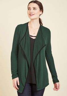 Bold and Balanced Cardigan in Forest, #ModCloth