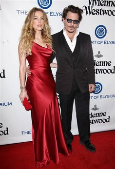 Amber Heard and Johnny Depp attend The Art of Elysium Heaven Gala in Los Angeles, Calif., on Jan. 9, 2016