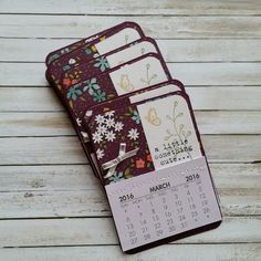 Wildflower Fields Fridge Mini Calendars - Blackberry Bliss 2