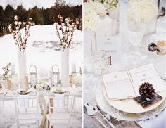 {holiday soirée inspiration : a winter wonderland} | Flickr - Photo Sharing!