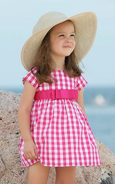 Baby CZ Cotton Scarlet Dress in Magenta Large Check available online and in stores starting at 2T.