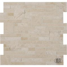 A new star from our extensive Crema Marfil marble collection, the gorgeous Crema Opus split face mosaic will add a natural element of style to any space! #walltilewednesday #mosaic #tile