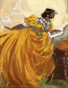 "dearasteria: ""Josephine Montilyet based on John White Alexander's painting Althea """