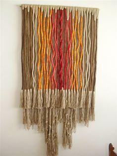 """Ocaso"" | Año: 2007 Dimensiones: 180cm x 96 cm Propiedad de … | Flickr Weaving Wall Hanging, Weaving Art, Loom Weaving, Tapestry Weaving, Textile Fiber Art, Textile Artists, Fabric Art, Fabric Crafts, Macrame Thread"