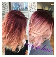 Fabulous rose gold hair color 2017 - new best hairstyle- Fabelhafte Rose Gold Haarfarbe 2017 – Neue Besten Frisur Fabulous rose gold hair color 2017 – new best hairstyle - Hair Color 2017, Hair Color And Cut, Balayage Hair Blonde, Ombre Hair, Red Balayage, Blonde Highlights, Ombre Short Hair Red, Red To Blonde Hair, Red Blonde Ombre