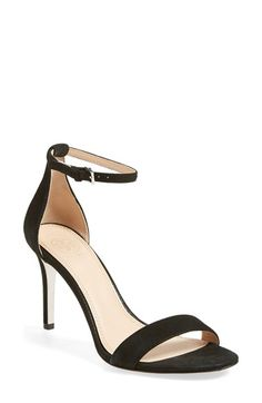 Free shipping and returns on Tory Burch Ankle Strap Sandal (Women) at Nordstrom.com. A red-carpet favorite this season, the minimalist ankle-strap sandal steps out instriking black suede infusedwith eye-catching shimmer.