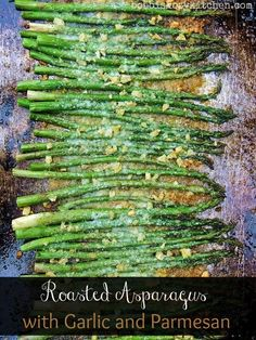 Roasted Asparagus with Garlic and Parmesan Shared on https://www.facebook.com/LowCarbZen | #LowCarb #SideDish