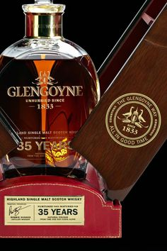 Glengoyne Highland Single Malt Scotch Whisky has unveiled a stunning and rare 35 years old limited edition. Distilled in the 1970's and 35 years in the making, this rich malt is golden in colour with tropical fruit intensity and a liquorice and dark chocolate finish. Expected to become a rare collectors' item, only 500 decanters have been released for sale globally. T