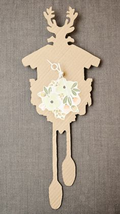 DIY Cardboard Coo-Coo Clock on our blog. See how to make your own.