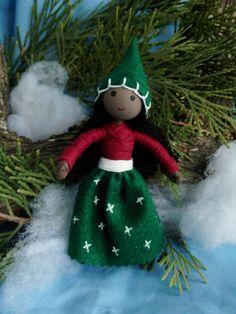 Kindness Elf African American Bendy Doll by WildflowerInnocence