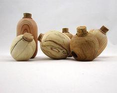 Small wooden vase, decorative vase, wood container, design vase, wood vase, modern vase, wood centerpiece, turned vase