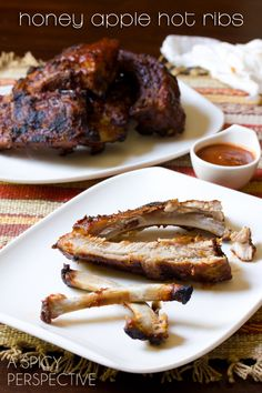 Babyback Ribs Recipe with Honey Apple Buffalo Sauce | ASpicyPerspective.com #ribs #grilling #summer #AppleButterRecipes