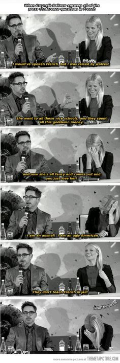Funny pictures about Robert Downey Jr. Oh, and cool pics about Robert Downey Jr. Also, Robert Downey Jr. Disney Marvel, Marvel Dc, Marvel Comics, Marvel Jokes, Marvel Funny, Gwyneth Paltrow, Fangirl, Robert Downey Jr., Avengers