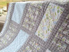 Backyard Baby Boy Crib Quilt by amydashdesigns on Etsy, $140.00