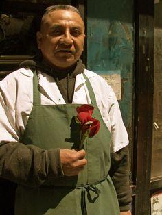 Vendedor de flores en nyc