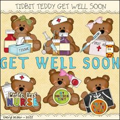 get well soon Visiting Nurse, Get Well Quotes, Get Well Soon, Teddy Bear, Wellness, Toys, Cards, Activity Toys, Get Well