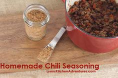 I'm going to try this one out later this week. The taco/chili seasonings in the store are loaded with salt and preservatives. Homemade Chili Seasoning, Homemade Spices, Homemade Seasonings, Homemade Cheese, Seasoning Mixes, Best Gluten Free Recipes, Gluten Free Treats, Other Recipes, Food Out
