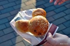 At Disneyland Paris - Mickey Roll, which was a sweet roll filled with Nutella chocolate-hazelnut spread. (disneyfoodblog.com)